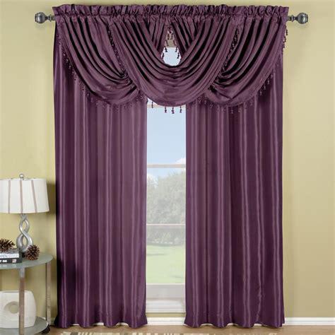 Waterfall Valance Window Treatments Soho Purple Waterfall Window Treatment Ebay