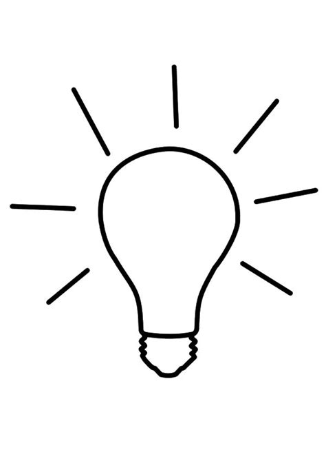 Light Bulb Coloring Pages Clipart Best Free Printable Lights Coloring Pages