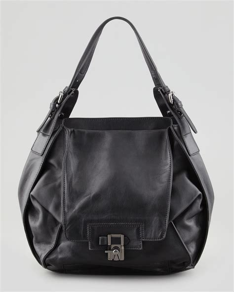 Neiman Sale Continues With Goods From Marc Kooba Tracy by Kooba Valerie Flapfront Shoulder Bag Black In Black Lyst