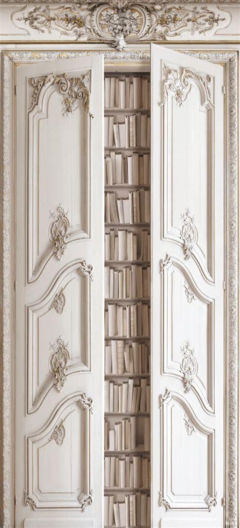 trompe l oeil libreria con papel pintado portes biblio haussmannienne