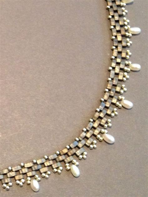 beth beading seed bead woven necklace beth if you give a