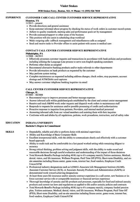 sample of customer service representative resume military