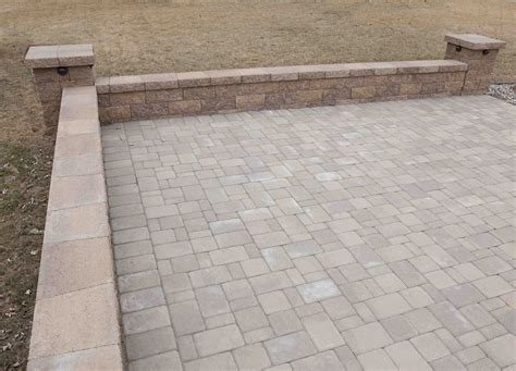 paver patio ideas paver patio with retaining wall ideas home citizen