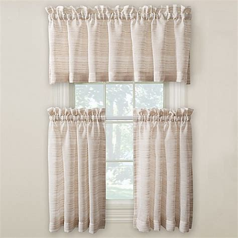 24 Inch Kitchen Curtains Buy Surfside 24 Inch Kitchen Window Curtain Pair From Bed Bath Beyond