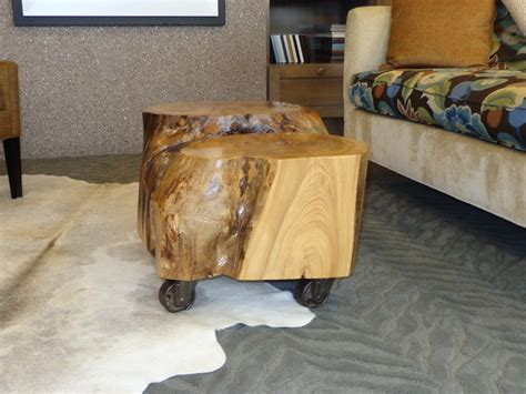 coffee tables ideas stump end amish tree trunk coffee