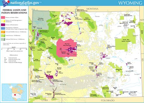 map of federally owned land in usa map of wyoming map federal lands and indian reservations