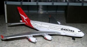 realtoy qantas airlines airplane airbus a380 1 500 scale diecast mint in box ebay
