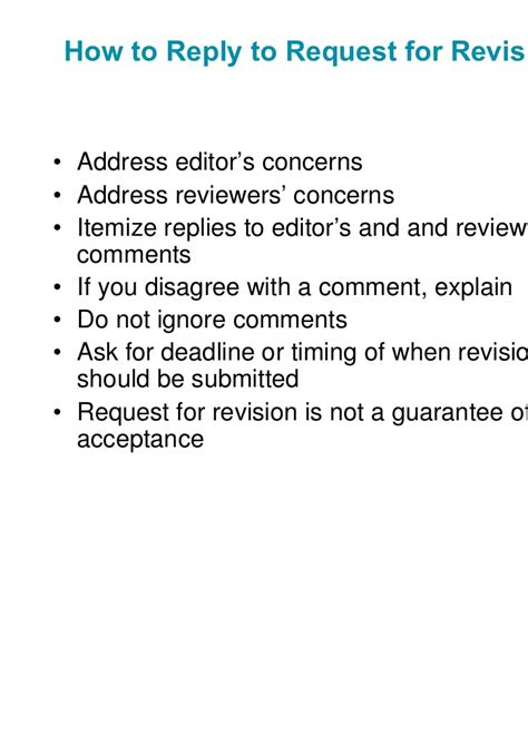 revise and resubmit cover letter the peer review process