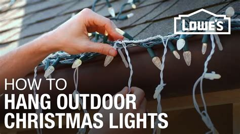 how to hang exterior christmas lights youtube