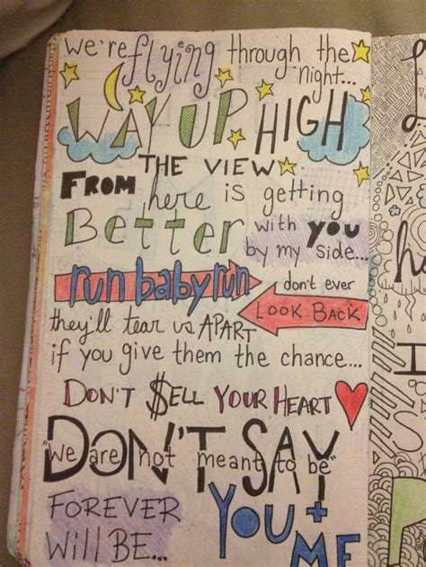 doodle lyrics check yes juliet we the lyric doodle my notebook