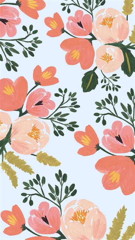 floral pattern on pinterest rifle paper co iphone 6 plus spring floral wallpaper