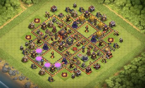 th10 trophy base town hall 10 trophy pushwar base anti golem anti 13 th7 to th11 farming trophy war base layouts for