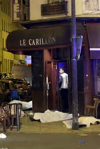 In tribute of the victims near to the bataclan concert venue in paris