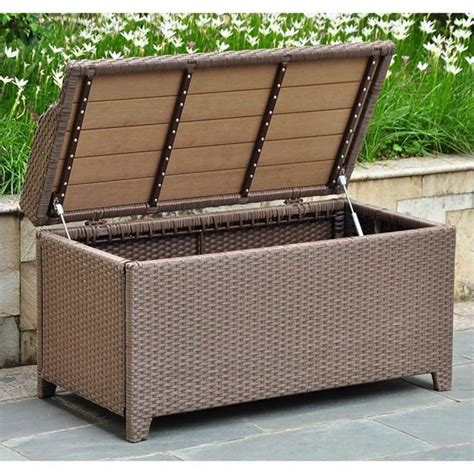 outdoor trunk bench patio bench trunk in antique brown 4221 abn