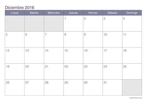 Calendario 2016 Calendario 2016 Calendario Diciembre 2016 Para Imprimir Icalendario Net