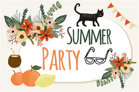 summer parties summer party by mia charro thehungryjpeg com