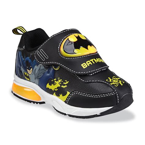 batman tennis shoes for dc comics toddler boy s batman light up shoe