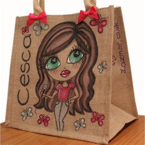 personalised jute bag