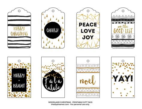 printable gift tags gold have a very merry christmas printable gift tags black