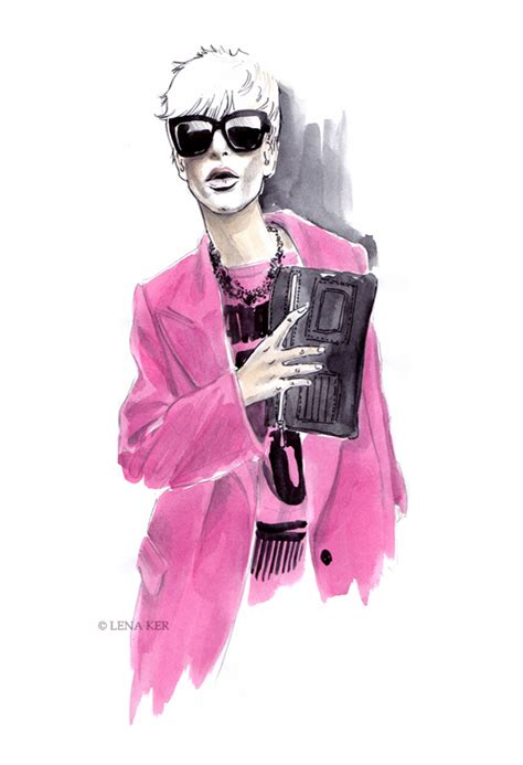 fashion illustration winter wear artwork by lena ker inspiration d g fall winter 2011