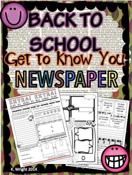 17 Best Images About Elementary School Newspaper Ideas On Classroom Printable Family Newspaper Student Newspaper