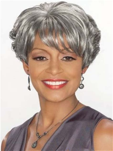 sweety short wavy gray african american lace wigs for women 6 inch wigs pinterest short fashonlacewigsale com 2015 cool short curly gray african