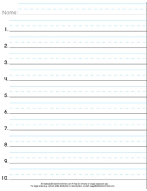 free printable numbered lined paper search results for blank number lines printable free