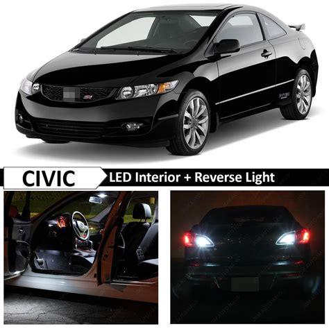 Stop L Honda Civic 2016 On Sedan Light Bar Smoke white interior led light package kit 2006 2012 honda civic coupe ebay