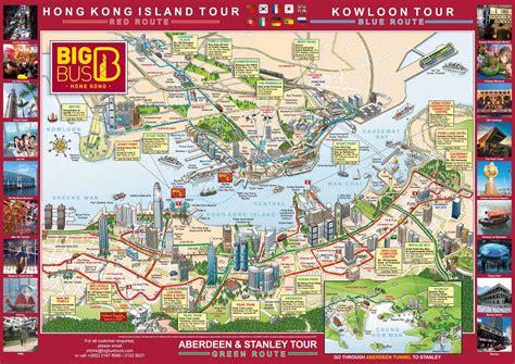 Hong Kong hop on hop off route map - Hop on hop off bus ...