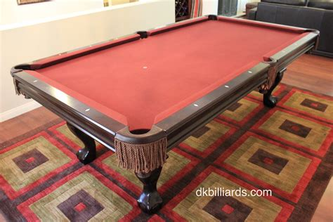 brunswick contender setup dk billiards service orange