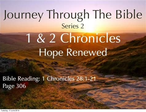 the journey a walk through scripture books journey through the bible the books of chronicles