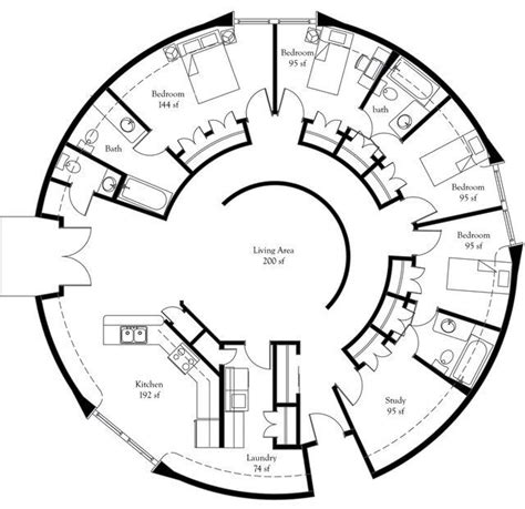 circular house floor plans convert at least one bedroom a perfect eco friendly