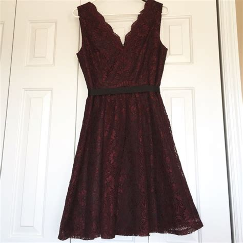 Dress Front Ribbon Maroon A15457gn 35 calvin klein dresses skirts calvin klein