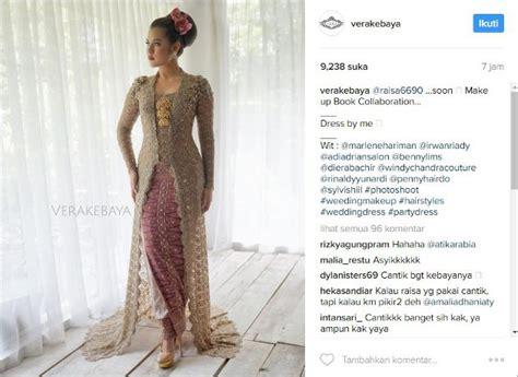 Baju Nikah Raisa cantik pakai kebaya raisa fitting baju pengantin bareng hamish daud kabar berita artikel