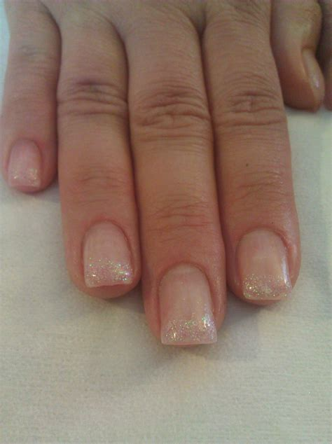 nail light for gel nails gel nails with light pink glitter tips beautiful nails