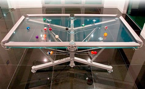 Glass Pool Table Costs 26 000 Wired Glass Pool Table