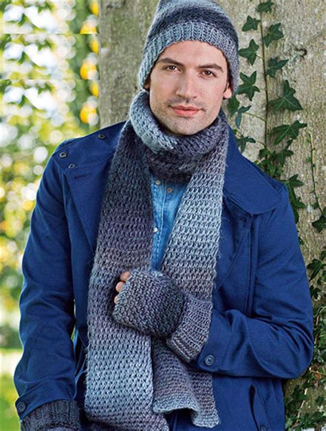 knitting pattern for mens scarf and hat free hats and scarves knitting and crochet patterns for men