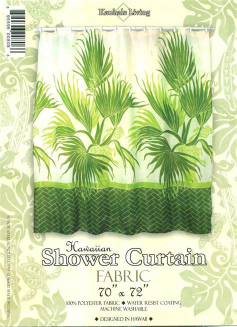 Hawaiian Shower Curtains Hawaiian Tropical Fabric Shower Curtain Fan Palm