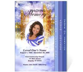 Free 4 Page Graduated Fold Funeral Program Templates Free Funeral Program Templates Funeral Program