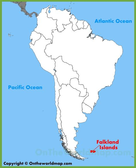 falkland islands on map falkland islands location on the south america map