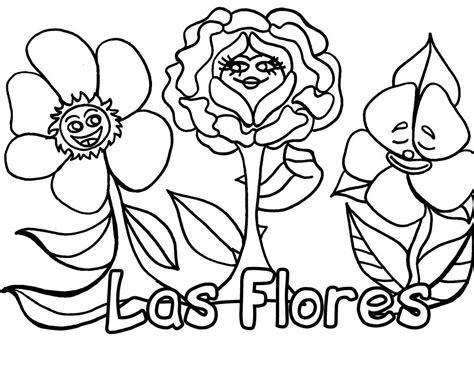 imagenes de animales y plantas para colorear cartel flores dibujalia dibujos para colorear