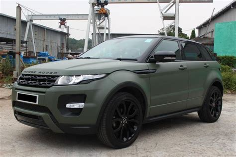 Matte Army Green Land Rover Range Rover Evoque Dreamin