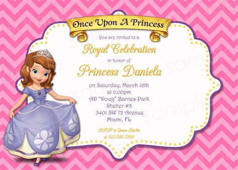 sofia the birthday card template princess sofia invitation template free orderecigsjuice info