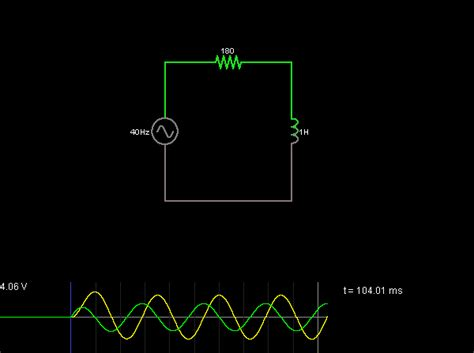 inductor ac a c response of inductor circuit simulator