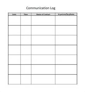 communication template exle communication log template 8 free word pdf documents