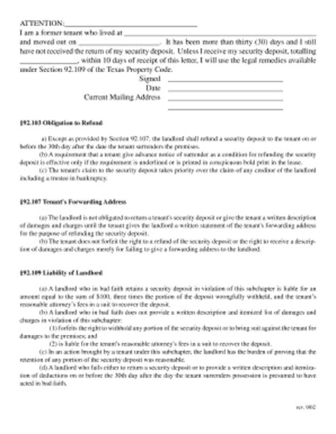 Sle Dispute Letter To Landlord Florida security deposit demand letter template letter template 2017