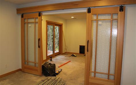 Interior Barn Doors For Homes Craftsman Style Barn Doors For The Home