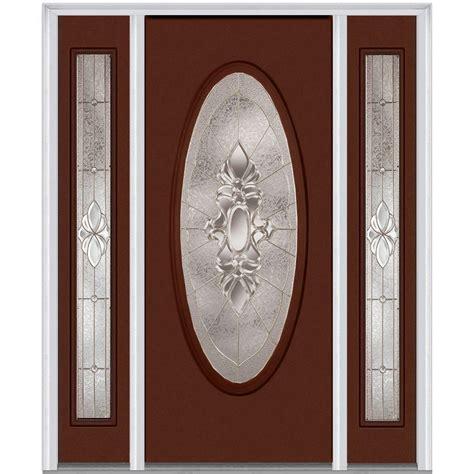 Oval Glass Door Milliken Millwork 68 5 In X 81 75 In Heirloom Master Deco Glass Oval Lite Painted