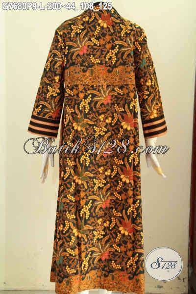 Gp223 Dress Gamis Motif Dress dress batik motif klasik gamis batik berkelas desain