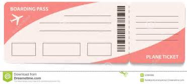 Boarding Ticket Template by Plane Ticket Template Musicax Org